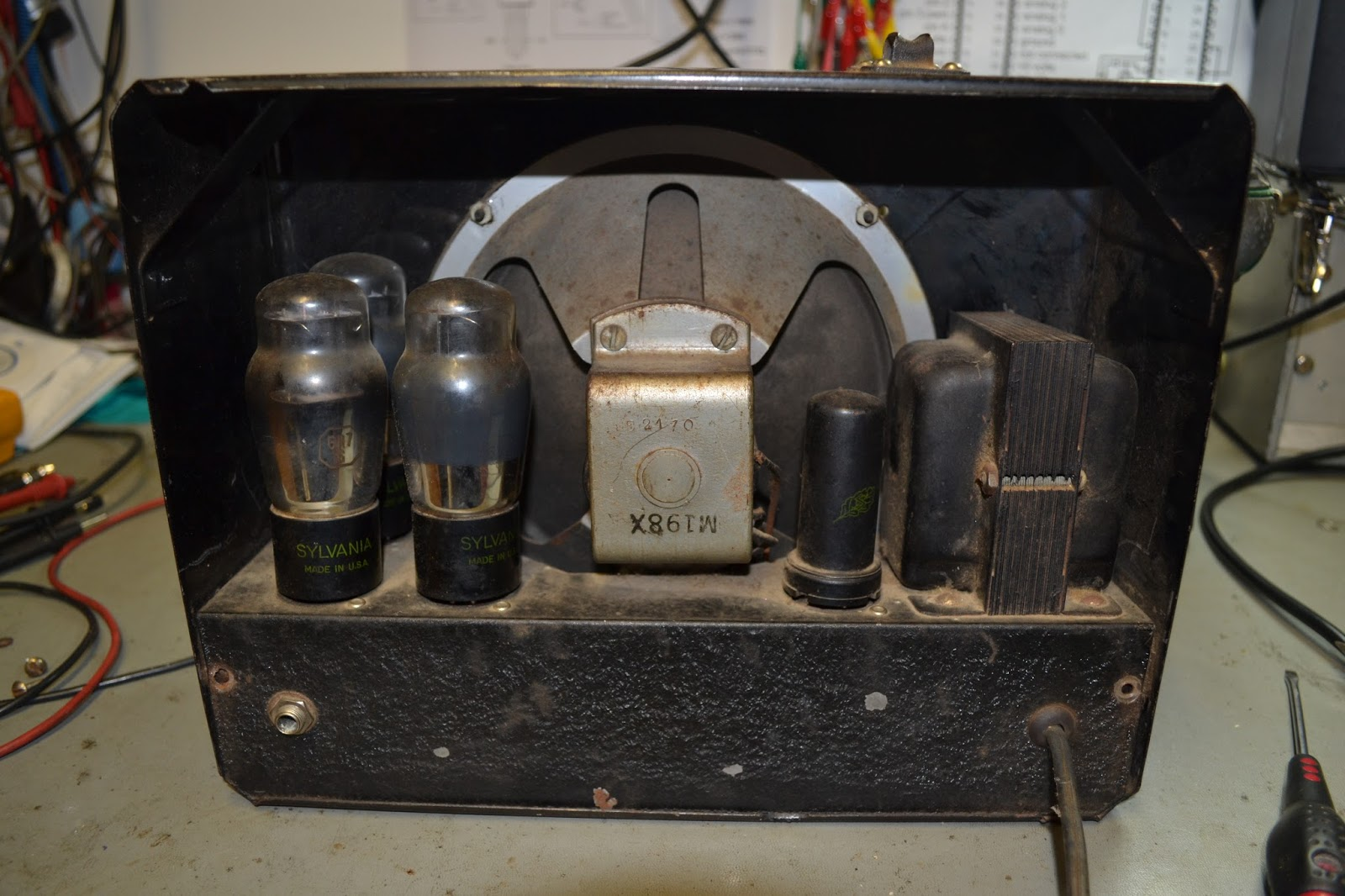 Doz Blog Rickenbacker Rickenbacher Model 59 Lap Steel Guitar Amp 5 Control Wiring Diagram Its A 1939 Note Pre War Spelling Here Although Theres No Markings On It Made In The Us And Designed For 110v 60hz Power