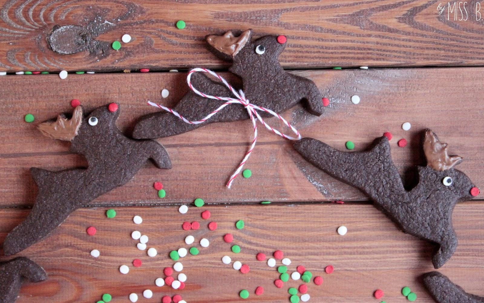 Weihnachtsbäckerei: Rentier Rudolph Kekse
