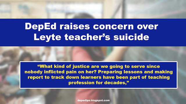 NEWS: DepEd raises concern over Leyte teacher's suicide
