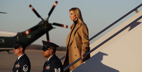 'Like a boss'!: VERY glamorous photos of Ivanka leaving Air Force One have her fans gushing over her future Presidential bid