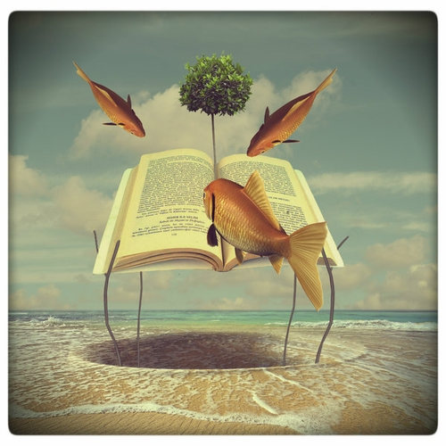 10-Library-Beach-Akşam-Gunesi-Surreal-Photo-Manipulation-to-suit-your-Mood