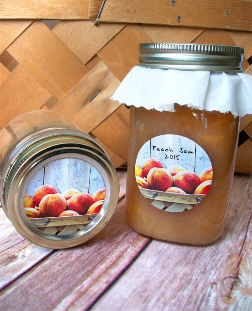 peach jam jelly preserves canning jar labels