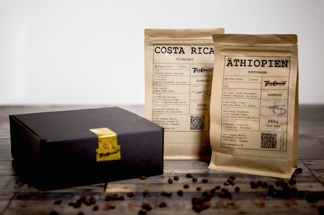 Sortenreiner Espresso ganze Bohnen Geschenk