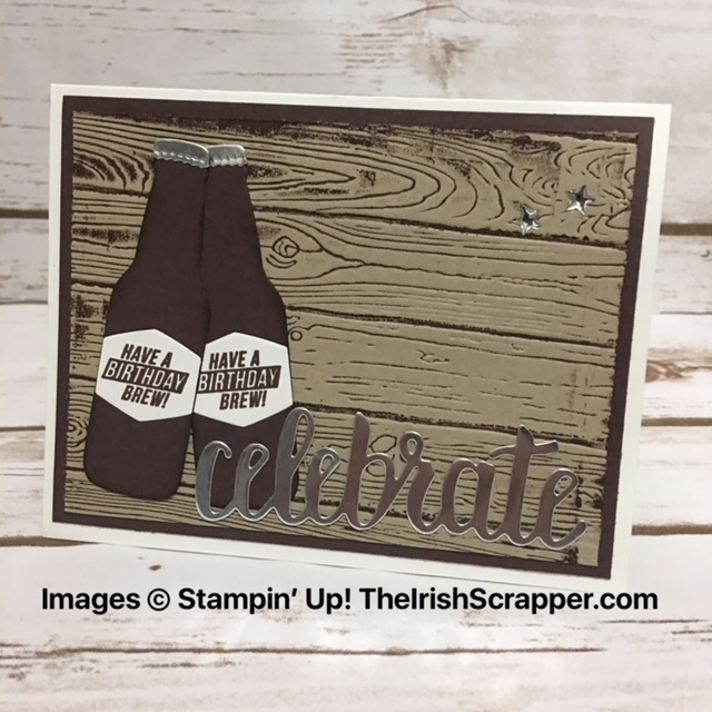 The Irish Scrapper Stampin Up Bubble Over Masculine Birthday Card