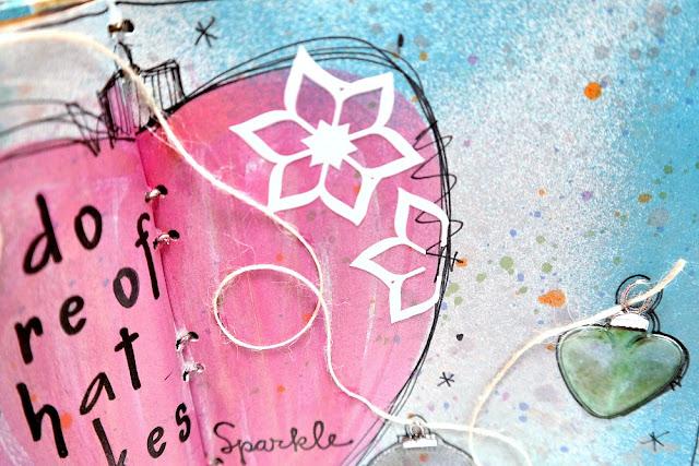 Sparkle-Art-Journa-Page-with-7Gypsies-Architextures-Tall-Base-Swirls-by-Dana-Tatar