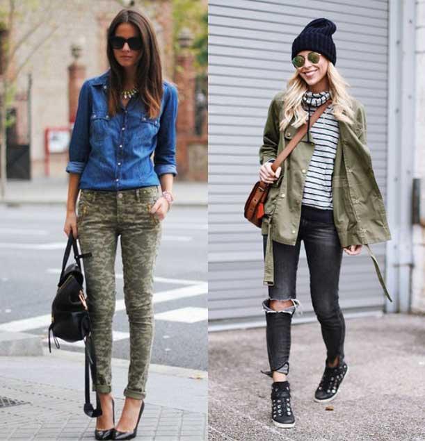 pantalon estilo militar