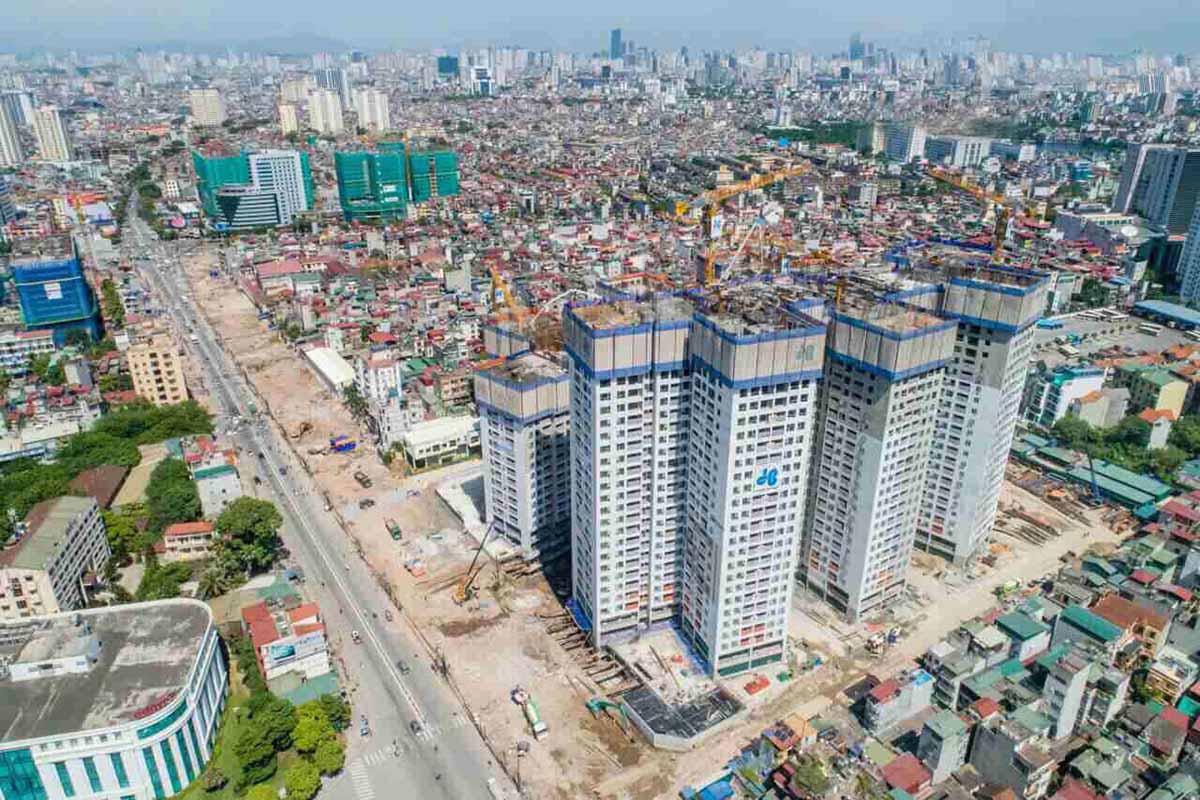 Tiến độ thi công Imperia Sky Garden 423 Minh Khai tháng 7/2018