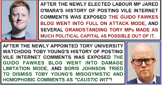 The searing Tory hypocrisy over people with histories of posting vile online comments