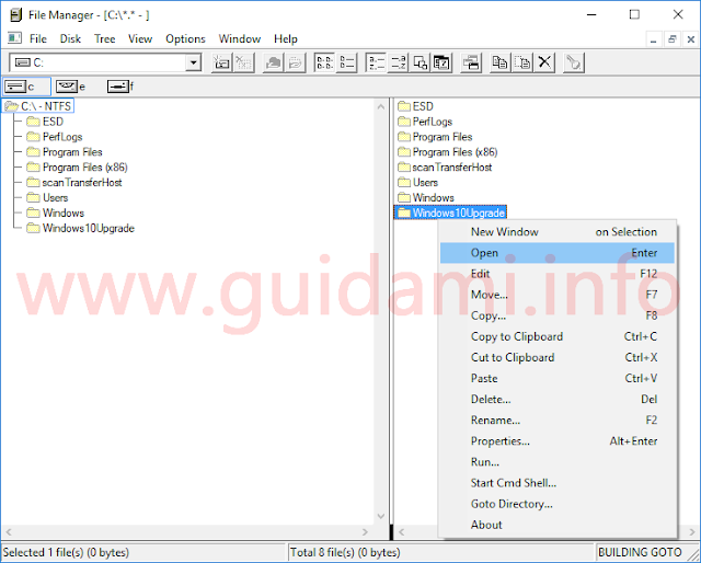 Interfaccia del vecchio File Manager di Windows 3.0