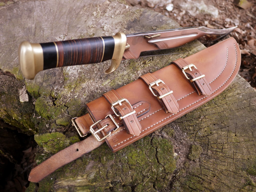 knives with sheaths audhumbla custom leather sheath for a down under knifes