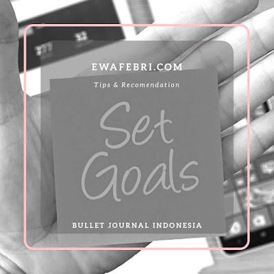 how to setup goals dan reward bullet journal indonesia