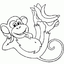Printable Monkey In Forest Coloring Sheet For Kids