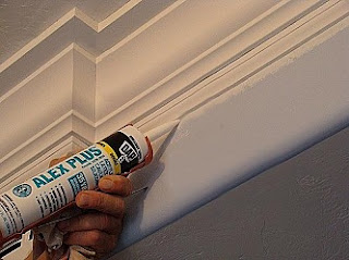 caulking molding gaps silicone