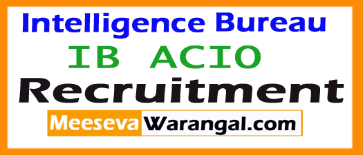 Intelligence Bureau Recruitment 2017