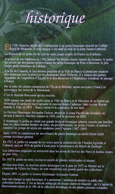 NANCY (54) - Le jardin botanique Dominique-Alexandre Godron