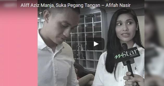 """Video: """"Aliff Aziz manja suka pegang tangan"""" – Lepas 2 minggu diam, Afifah Nasir tampil pertahankan diri"""
