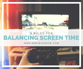 4 Rules for Balancing Screen Time. Click to read.