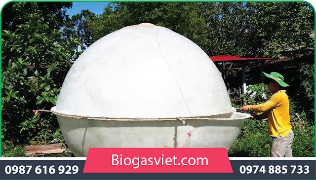 đưa bể biogas composite về nông thôn