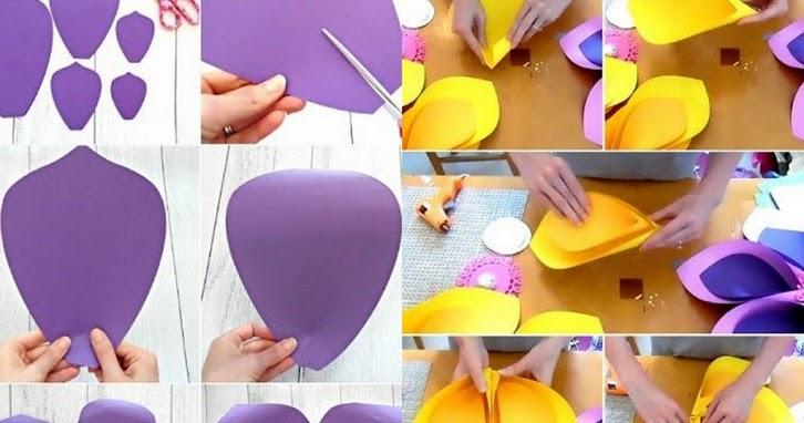 Crafty Girls Cara Membuat Bunga Dari Kertas Karton Dan Origami
