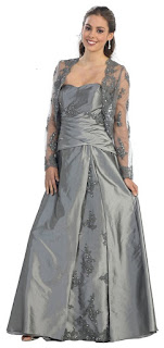 silver long mother of the bride groom dresses