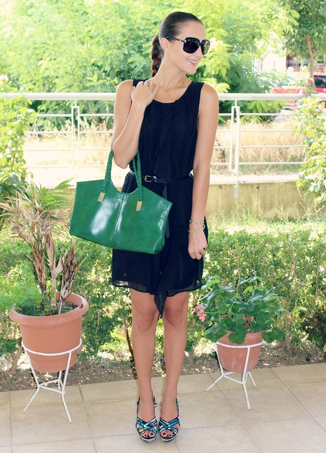 H&M mini black dress, little black dress outfit ideas for summer