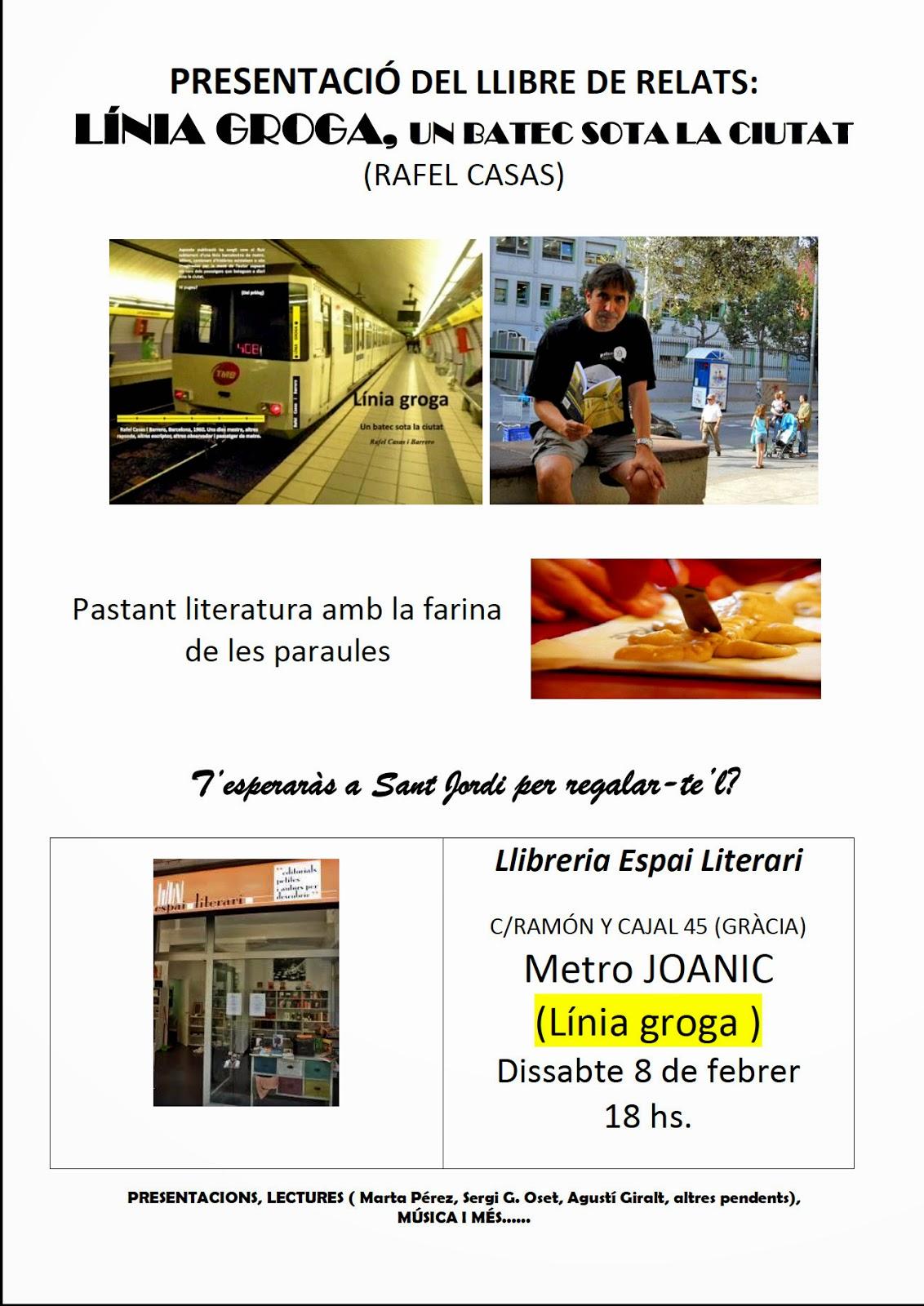 la meva perdici  Presentaci de Lnia Groga de Rafel Casas Llibreria Espai Literari 080214