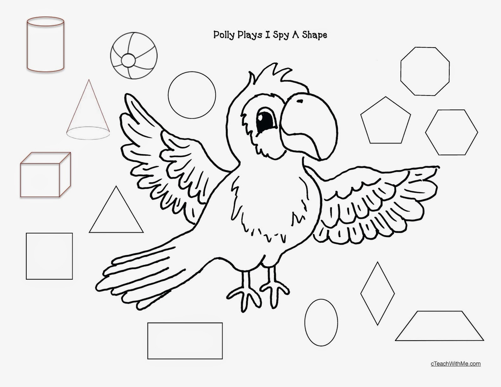 Shapes Worksheet I Spy With