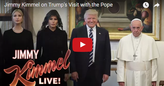Scg Virals Jimmy Kimmel On Trump S Visit With The Pope