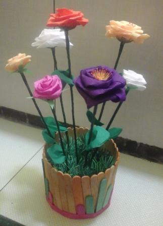Kerajinan Tangan Bunga Dari Kertas Krep Brad Erva Doce Info