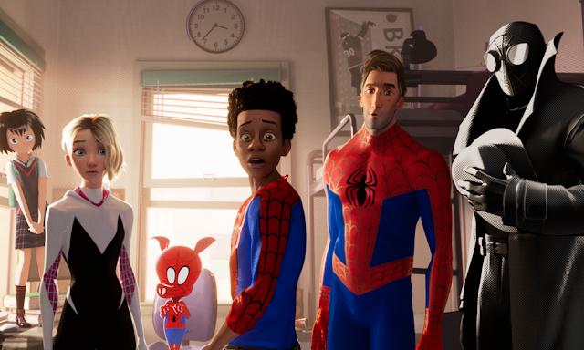 Peni Parker, Gwen, Spider-Man, Miles, Peter B. Parker, Spider-Man Noir