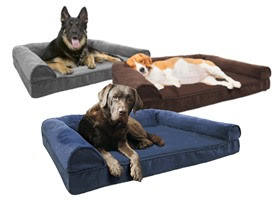 Groupon Furhaven Deluxe Quilted Sofa Style Orthopedic Pet Bed