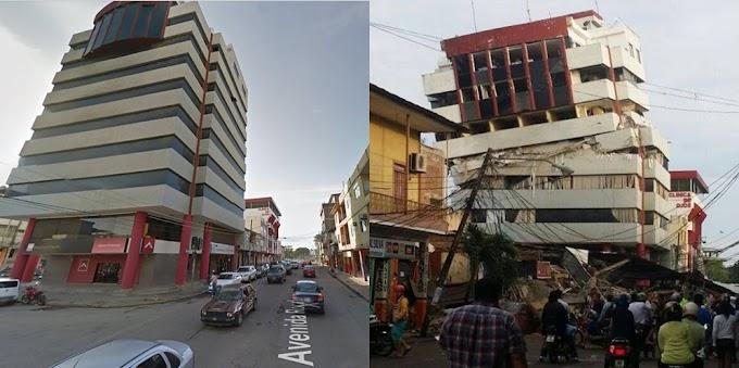 El antes y después del #TerremotoEcuador en Pedernales. (FOTOS)
