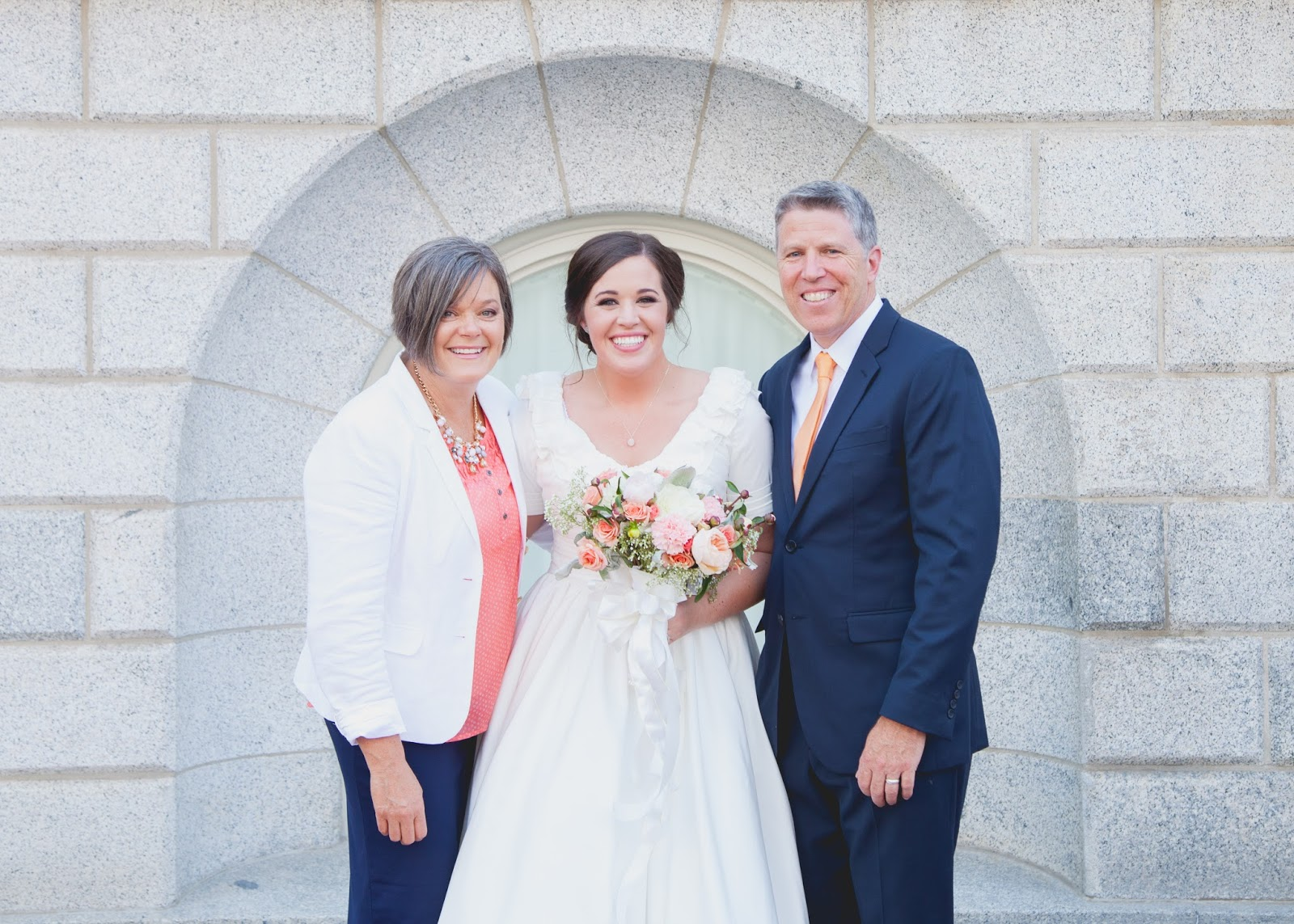 Peach and navy blue wedding with a hot dog bar part 1 the style emily and kevin were married in the salt lake temple in utah ombrellifo Choice Image