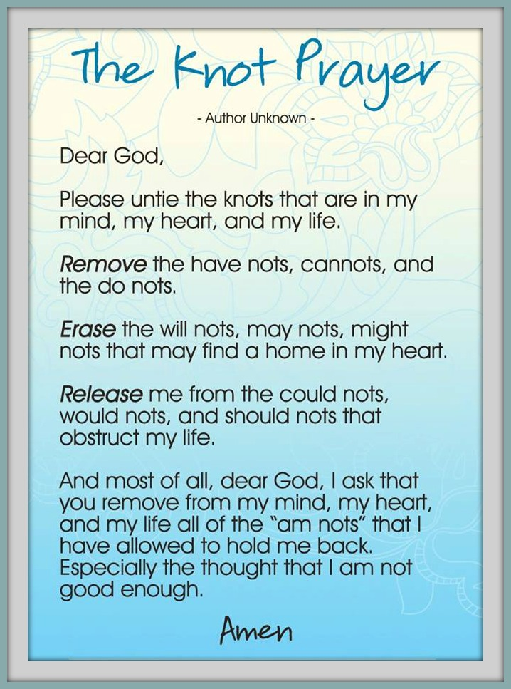 Magic image in the knots prayer printable