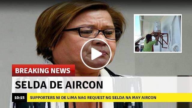 Nag request ng selda na may Aircon para sa Senadora  Ang  Ilang Supporters ni De Lima!