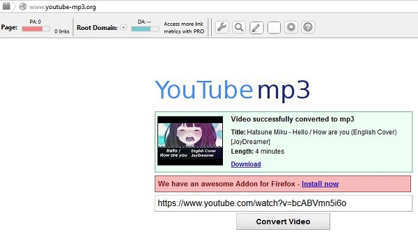 Heres how to download mp3 from youtube it turned out that easy for the record youtube mp3 site has one weakness that can not download a mp3 of videos longer than 20 minutes when you try to download videos longer than ccuart Image collections