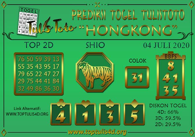 Prediksi Togel HONGKONG TULISTOTO 04 JULI 2020