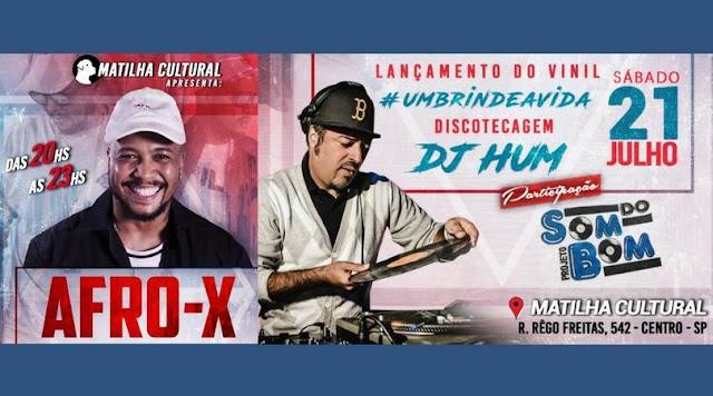 Afro X lança vinil de 'Um Brinde à Vida' com pocket show gratuito