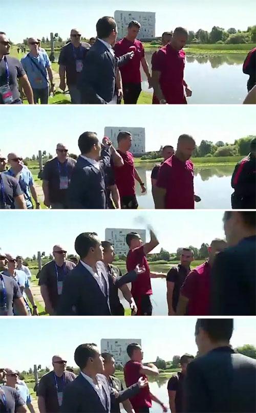 Ronaldo buang mic wartawan