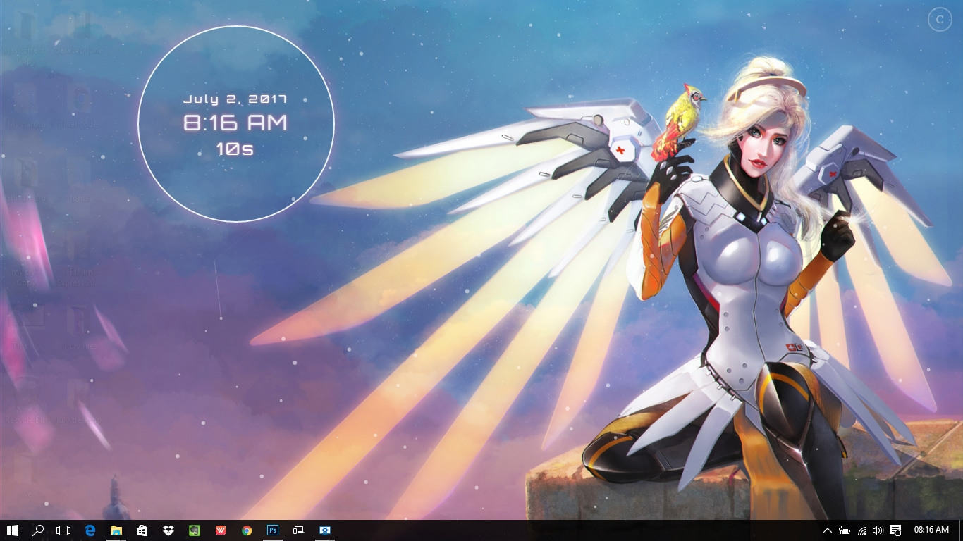 Overwatch Mercy Wings Wallpaper Engine Free Download Wallpaper