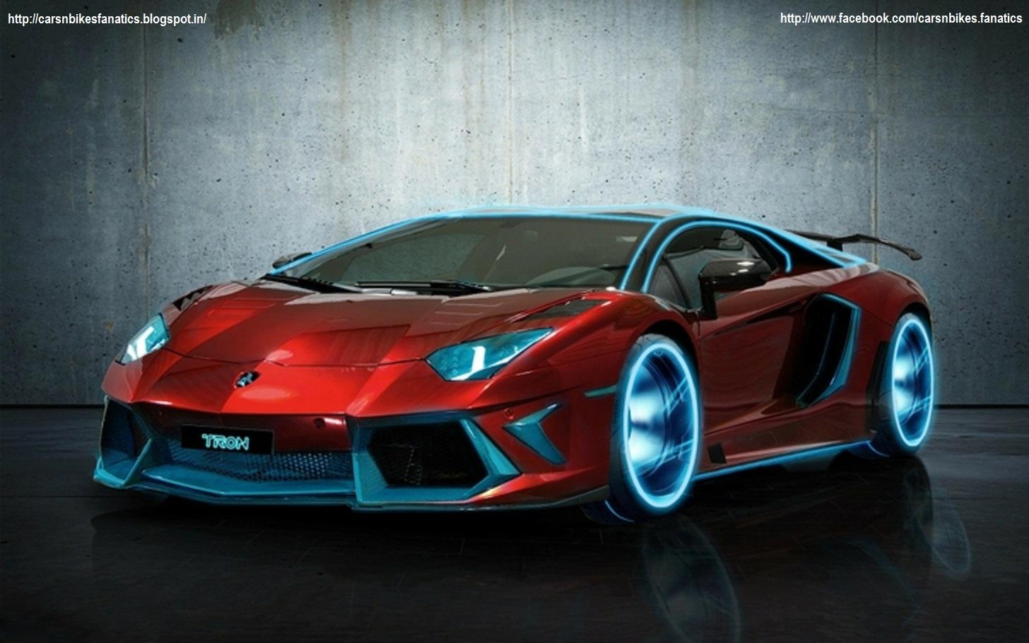 Car & Bike Fanatics: Lamborghini Aventador Tron as our new Profile Picture on our Page on Facebook