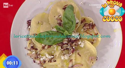 Medaglioni ripieni con caciotta tartufata e radicchio spadellato ricetta Valbuzzi da Prova del Cuoco