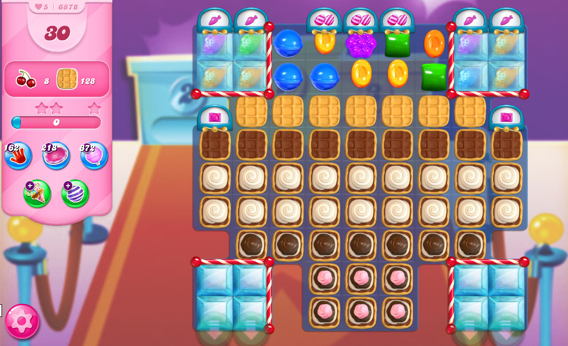 Candy Crush Saga level 6878