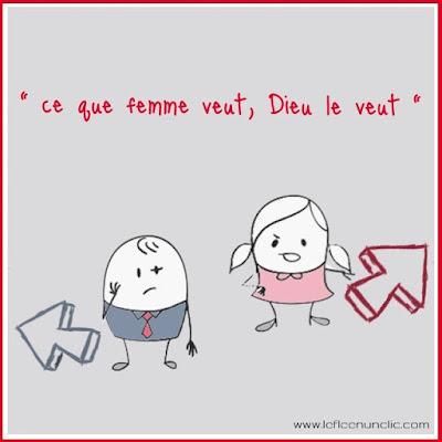 proverbe français, ce que femme veut Dieu le veut, FLE, le FLE en un 'clic'