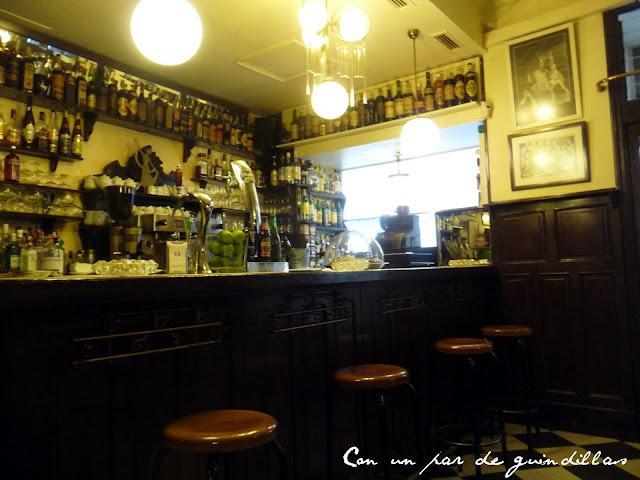 Barra del Café Isadora