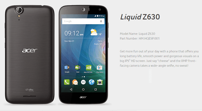 Stock Firmware Acer Liquid Z630s