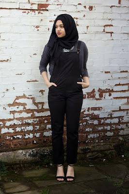 hijab cantik dan seksi manis dengan baju kodok monyet cupu IGO cantik