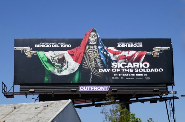 Sicario Day of the Soldado cutout billboard