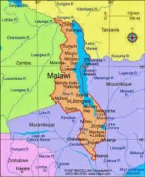 Peta Negara Malawi