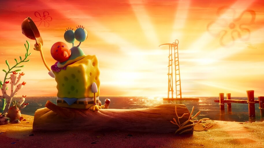 Spongebob Gary Sunset Spongebob Movie Sponge On The Run